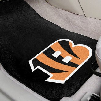 FanMats® - Black Carpet Mats with Cincinnati Bengals Logo
