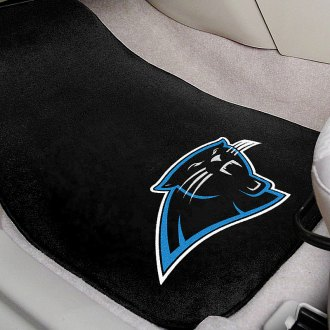 FanMats® - Black Carpet Mats with Carolina Panthers Logo