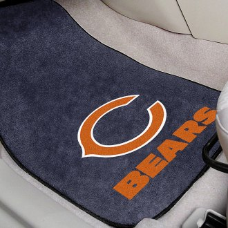 FanMats® - Gray Carpet Mats with Chicago Bears Logo