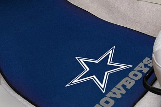 FanMats® 5724 - Dallas Cowboys Logo on Carpet Car Mats