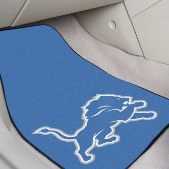FanMats® - Black Carpet Mats with Detroit Lions Logo