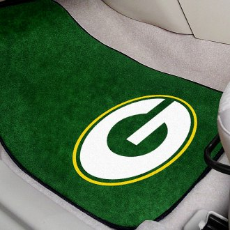 FanMats® - Green Carpet Mats with Green Bay Packers Logo