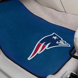 FanMats® - Blue Carpet Mats with New England Patriots Logo