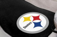 FanMats® 5826 - Pittsburgh Steelers Logo on Carpet Car Mats
