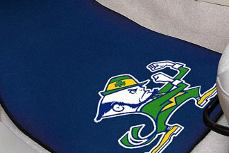FanMats® 6037 - Notre Dame Fighting Irish Logo on Carpet Car Mats