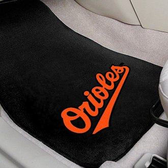 FanMats® - Black Carpet Mats with Baltimore Orioles Logo
