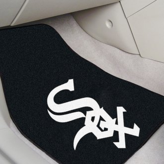 FanMats® - Black Carpet Mats with Chicago White Sox Logo