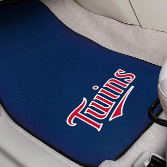 FanMats® - Blue Carpet Mats with Minnesota Twins Logo