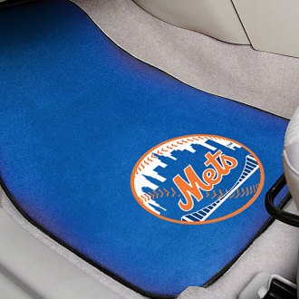 FanMats® - Blue Carpet Mats with New York Mets Logo
