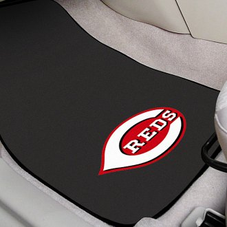FanMats® - Black Carpet Mats with Cincinnati Reds Logo