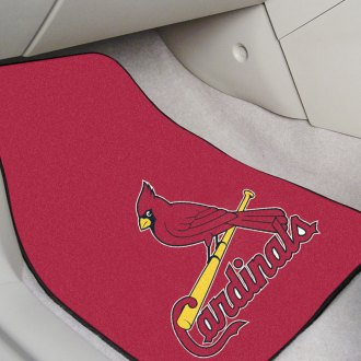 FanMats® - Blue Carpet Mats with St Louis Cardinals Logo