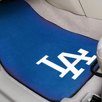 FanMats® - Blue Carpet Mats with Los Angeles Dodgers Logo