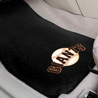 FanMats® - Black Carpet Mats with San Francisco Giants Logo