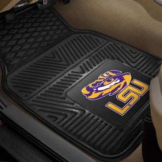 FanMats® - 1st Row Collegiate Heavy Duty Vinyl Car Mats with Louisiana State University Logo