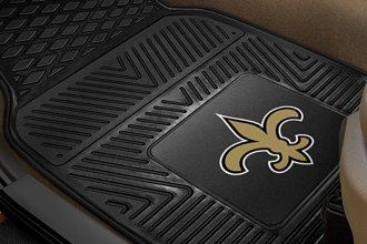 FanMats® 8757 - New Orleans Saints Logo on Heavy Duty Vinyl Mats