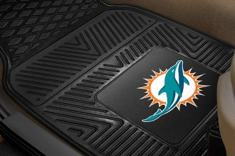 FanMats® 8770 - Miami Dolphins Logo on Heavy Duty Vinyl Mats