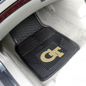 FanMats® - 1st Row Collegiate Heavy Duty Vinyl Car Mats with Georgia Tech Logo