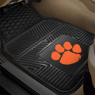 FanMats® - 1st Row Collegiate Heavy Duty Vinyl Car Mats with Clemson University Logo