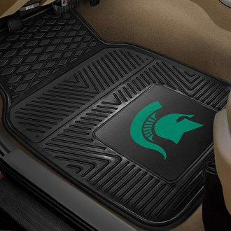 FanMats® - 1st Row Collegiate Heavy Duty Vinyl Car Mats with Michigan State University Logo