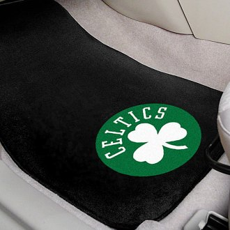 FanMats® - Black Carpet Mats with Boston Celtics Logo