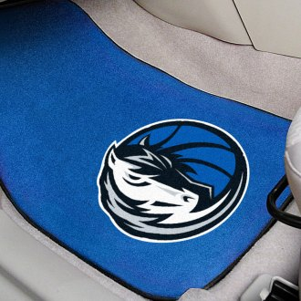 FanMats® - Black Carpet Mats with Dallas Mavericks Logo