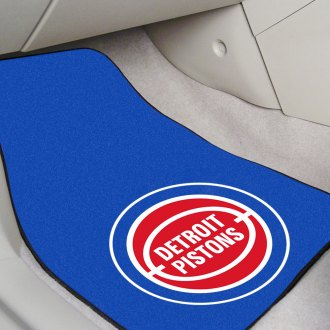 FanMats® - Black Carpet Mats with Detroit Pistons Logo