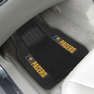 FanMats® - 1st Row Deluxe Vinyl Car Mats with Indiana Pacers Logo