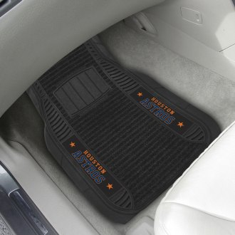 FanMats® - 1st Row Deluxe Vinyl Car Mats with Houston Astros Logo
