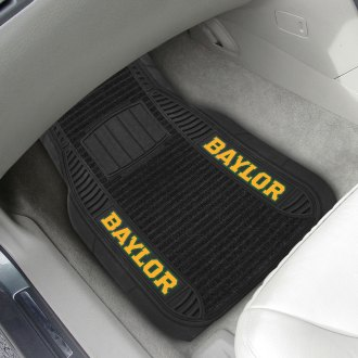 FanMats® - 1st Row Black Deluxe Vinyl Car Mats with Baylor University Logo