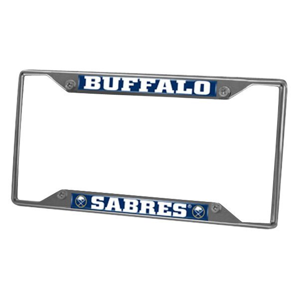 FanMats® - Sport Chrome License Plate Frame