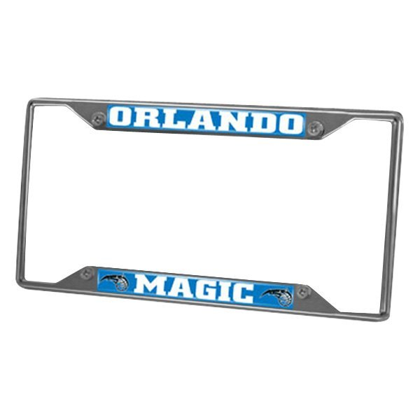 NBA Orlando Magic Chrome Metal License Plate Frame Universal-fit