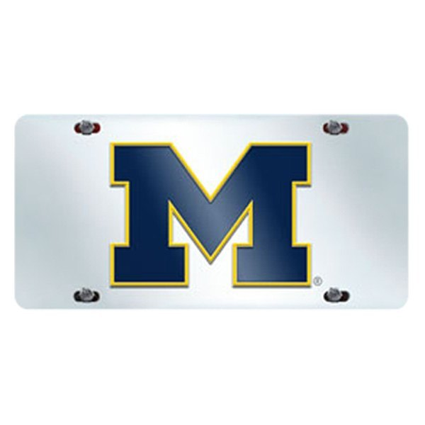 FanMats® 14995 - Collegiate Chrome License Plate with University of ...