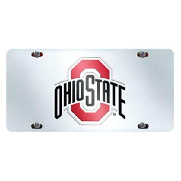 FanMats® 15048 - Collegiate Chrome License Plate with Ohio State University  Logo