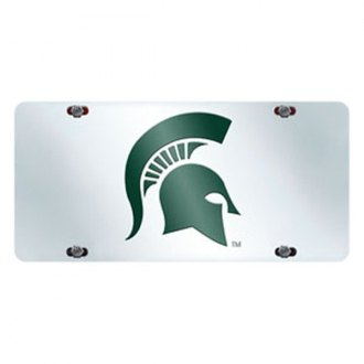 FanMats® - Collegiate Chrome License Plate