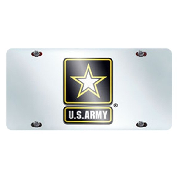 FanMats® - Military Chrome License Plate