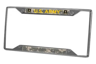FanMats® - Military License Plate Frame with U.S. Army Logo