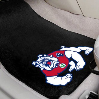 FanMats® - Black Carpet Mats with Fresno State Logo
