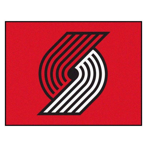 Portland Trail Blazers Logo On All Star Mat