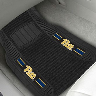 FanMats® - 1st Row Deluxe Vinyl Car Mats with University of Pittsburgh Logo