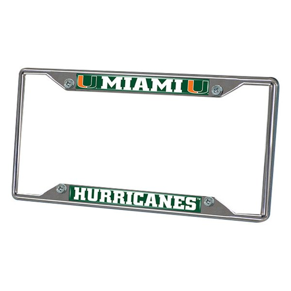FanMats® - Frame License Plate (College, Florida, University of Miami)