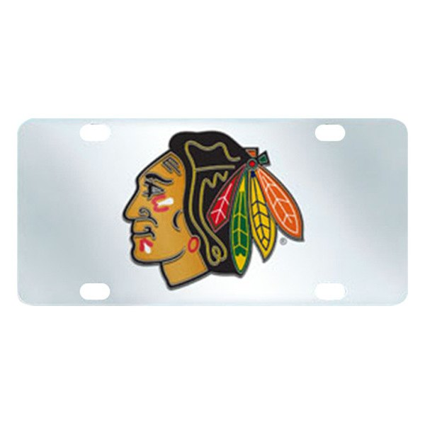 FanMats® - Inlaid License Plate (Sports, NHL, Chicago Blackhawks)