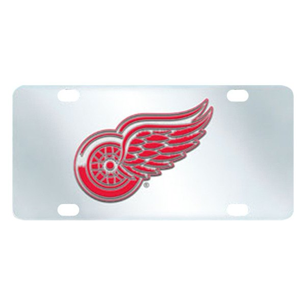 FanMats® - Inlaid License Plate (Sports, NHL, Detroit Red Wings)