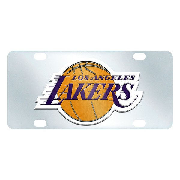 FanMats® - Inlaid License Plate (Sports, NBA, Los Angeles Lakers)