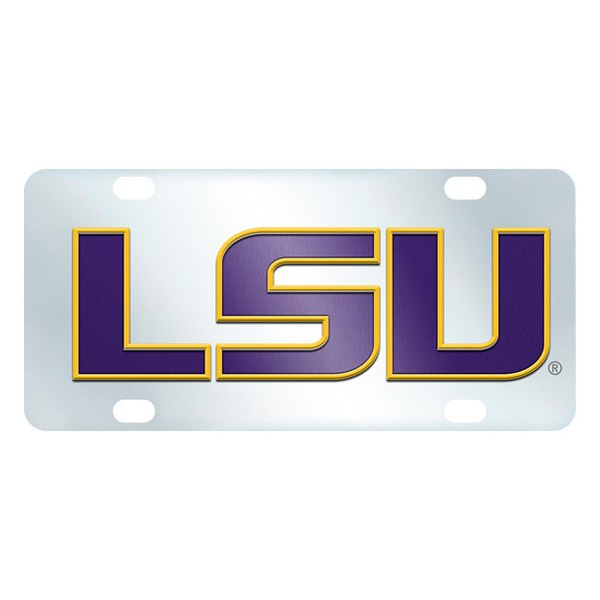 FanMats® - Inlaid License Plate (College, Louisiana, Louisiana State University)