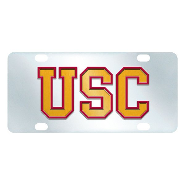 FanMats® - Inlaid License Plate (College, California, University of Southern California)