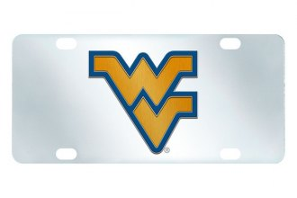 FanMats® 15054 - West Virginia University Logo on Inlaid License Plate