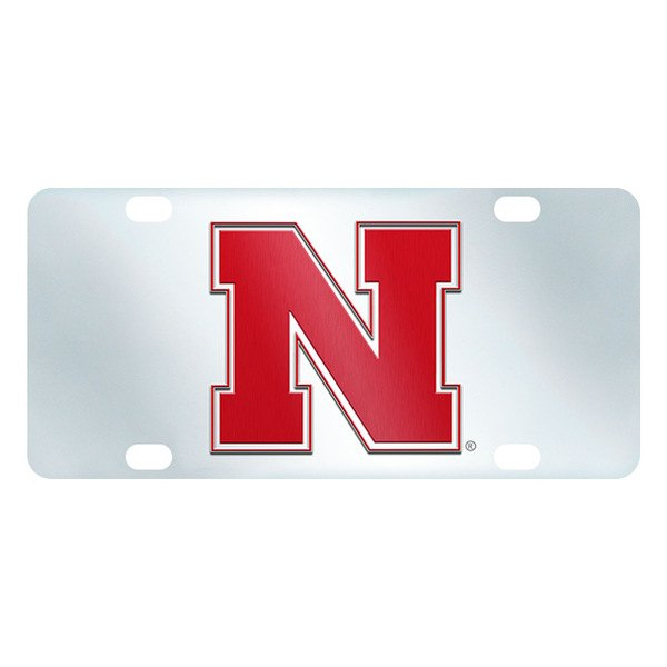 FanMats® - Inlaid License Plate (College, Nebraska, University of Nebraska)