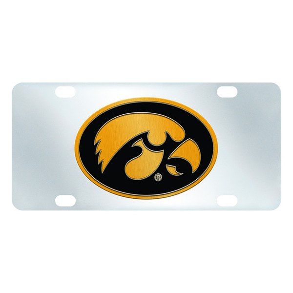 FanMats® - Inlaid License Plate (College, Iowa, University of Iowa)