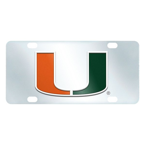 FanMats® - Inlaid License Plate (College, Florida, University of Miami)