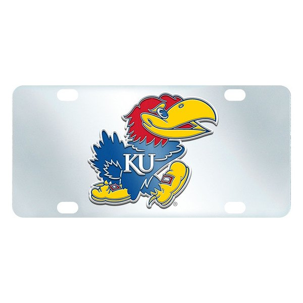 FanMats® - Inlaid License Plate (College, Kansas, University of Kansas)